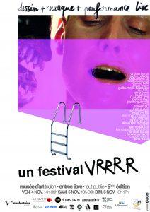 affiche 'un festival VRRRR' 2016 / graphisme H.L. pour le G.O.M.